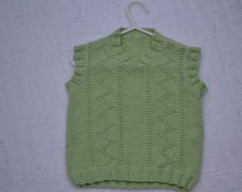Boys knitted 'V' neck sleeveless jumper