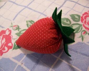 adorable little stuffed strawberry