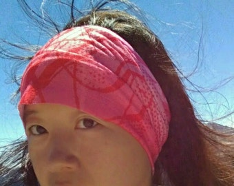 Waterfall & Doily : Moisture Wicking Seamless Multifunctional Headwear - Elastic Stretch Headband - Yoga Running Hiking Spinning Headscarf
