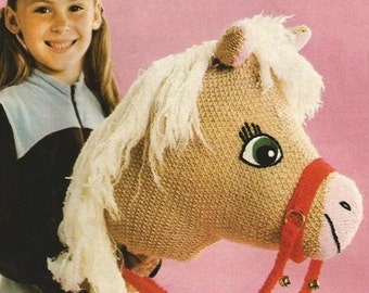 Vintage 1950s Hobby Horse Knitting Pattern PDF Instant Download ePattern