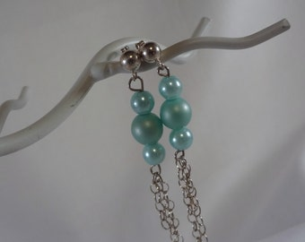 Mint Green Dangle Earrings, Jewelry, Accessories (LVE40)