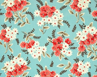 OOP HTF 18 inches Flea Market Fancy Legacy Fabric Collection Daisy Flower Bouquet Red Turquoise