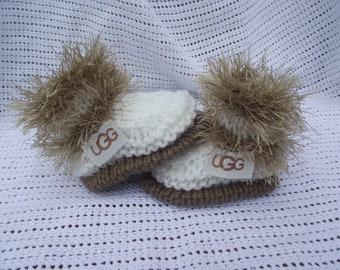bottes de bébé 0/3 mois ornés de ruban fantaisie