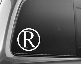 Initial brand, custom brand decal, brand car decal, ranch brand, custom farm brand decal, cattle brand, livestock branding, brand decal