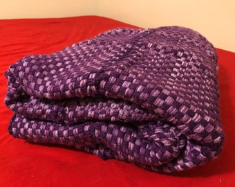 "Purple Mix Blanket, twin sized - 69"" x 46"""