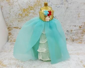 Dawn Doll Blue Pouf 813 fluffy gown fashion Outfit 6.5 inch dolls Topper Dawn Angie Glori Jessica