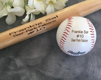 Personalized Baseball Bat and Ball ,Engraved Baseball Bat, Ring Bearer Gift, Junior Groomsman Gift, Best Man Gift