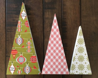 Standing Christmas Tree Decoration, Tabletop Tree Decor, Wooden Holiday Trees, Christmas Decor, Mantle Decor, Holiday Decor, Christmas Trees