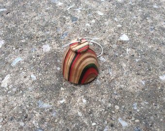 Red green bell shaped Ornament