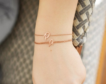 Initial Bracelet / Sterling Silver Letter Bracelet / Personalized Initial Bracelet / Personalized Letter Jewelry