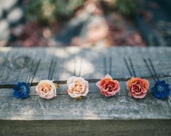 Hair flowers flower hair pins wedding floral accessories