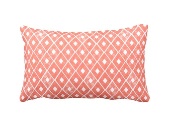 Coral Pillow Cover Coral Lumbar Pillows Decorative Pillows for Sofa Pillows Coral Throw Pillow Covers Geometric Pillows 12x18 12x20 Pillows