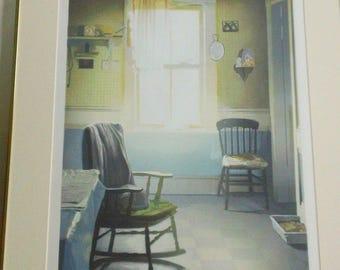 "Nancy Mcintyre Oil-Base Silkscreen With 39 Colors ""Joe's Kitchen"" 1978"