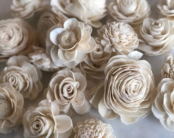 SOLA MIX - Grace, Olivia, Dorothy - Choose Your Colors - Assorted Sola Flowers - Loose Flowers - Wooden Flowers - Wedding Bouquet Flowert