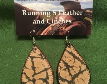 Exotic Leather Earrings