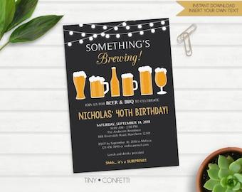 Beer invitation Etsy