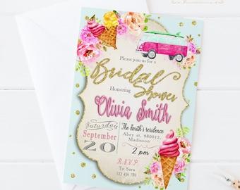 Summer Bridal Shower Invitation / Digital Printable Birthday Invite for Wedding / DIY Party