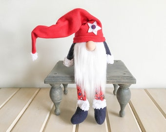 Red White & Blue Gnome FREE SHIPPING
