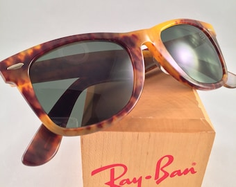 Vintage Ray Ban Bausch and Lomb Brown Tortoise Special Edition Wayfarer 50mm
