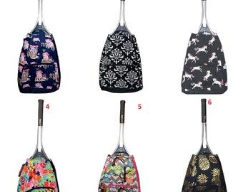 Monogrammed tennis bag: chevron, horse, anchor, flowers, arrow, feather, pineapple, piggy