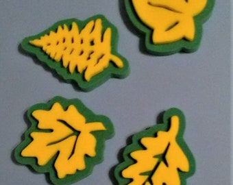 Foam Stamps, Stamps for Crafting, Leaf stamps, Art stamps, Maple leaf stamp, Ivy leaf stamp
