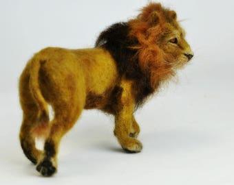 Needle felted Animal. Needle felted  Lion. King of Beasts.