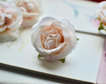 Silk flower, Wedding flower, Millinery flower, Rose flower head, Artificial flower, Silk rose, Pink silk flower, Hair flower, Fabric Rose