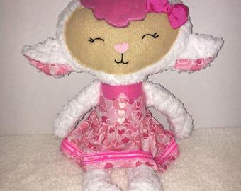 Valentine's Day lamb Hippo stuffed toy plushie rag doll stuffie
