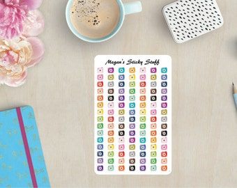 Cute Cameras Functional Planner Stickers