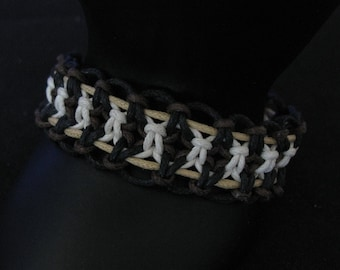 Brown and black woven bracelet