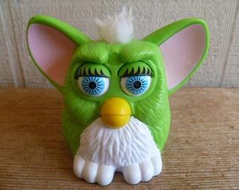Green Furby  McDonalds Happy Meal Toy 1998