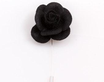 Black Lapel Flower