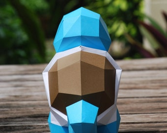 Paper craft DIY Squirtle - Pokemon - paper model Art