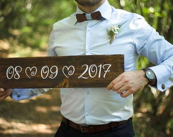 Wedding Save The Date Sign - Rustic Wedding Signs - Wedding Date Sign - Engagement Photo Prop Sign - Wedding Signs  - Engagement Photo Signs