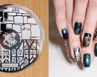 Nail Art Stamping Plates Image Plate Decoration Harry Potter Halloween (hehe25)