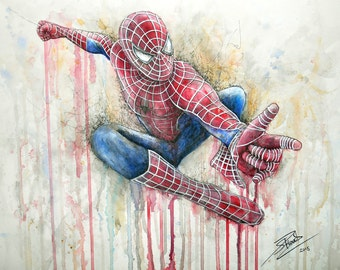 Spiderman Artwork Print A3