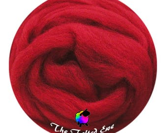 Needle Felting Wool Roving / ES27 Winter Berry Carded Wool Sliver