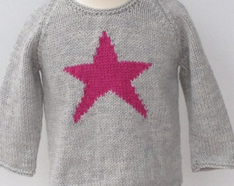 Hand Knitted Star Sweater