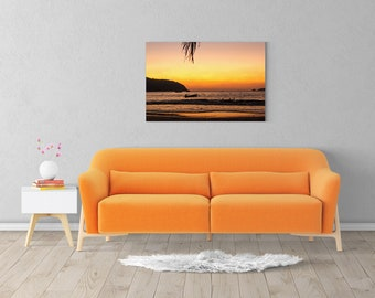 Sunset Artwork, Ocean Sunset, Sunset Art, Sunset Print, Night Sky Print, Coastal Canvas Art, Photography Print, Extra Large Wall Art