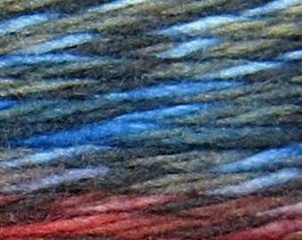Araucania Panguipilli Yarn - 100% Merino Wool - 193 yds. per skein - Bulky Weight - Orange/Blue