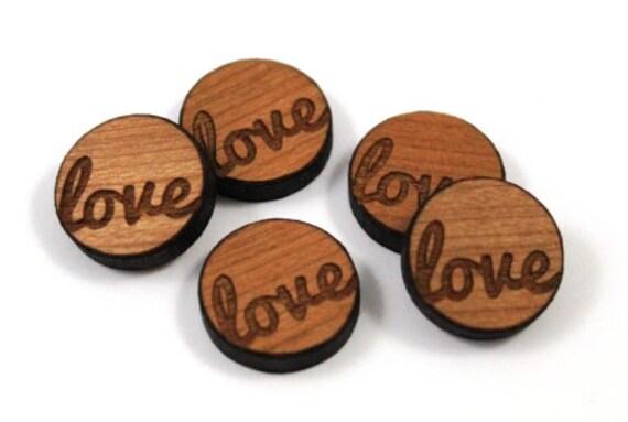 Laser Cut Supplies-8 Pieces. Love Charms-Laser Cut Wood Love Shape-Jewelry Supplies-Little Laser Lab.Online Laser Cutting Australia