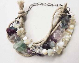 Fluorite Sea Glass bracelet