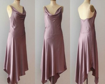 Vintage 1990's Laundry by Shelli Segal Silk Bias Cut Dress