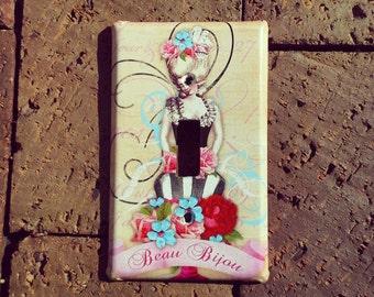 Marie Antoinette Inspired Light Switch Cover