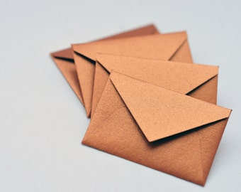 Tiny Copper Envelopes // Set of 10 // Tiny Love Notes // Embellishment // Decoration // Scrapbooking // Paper Crafting // Collage Work