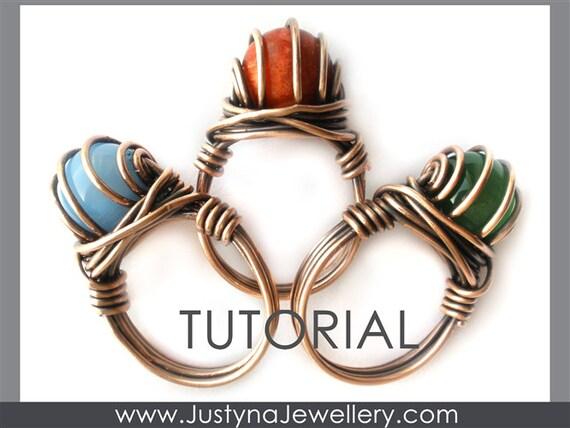 Draht-Ring-Tutorial Draht Schmuck Muster Bördeln Ring