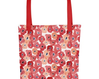 Red Floral Tote bag | Bag | Studio Carrie | Gift