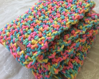 Handmade, Chunky Blanket, Chunky Throw, Crochet
