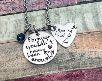Cat memorial, Dog memorial, Pet Loss jewelry, Pet Memorial Necklace, Pet loss jewelry, Death of pet gift, Custom Pet Necklace
