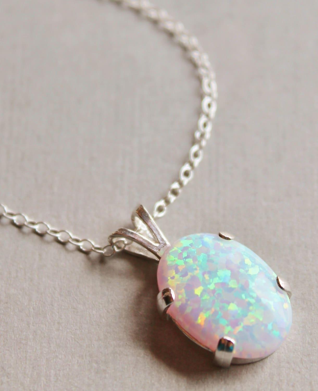 Opal necklacelab created australian opal gemstone zoom aloadofball Image collections